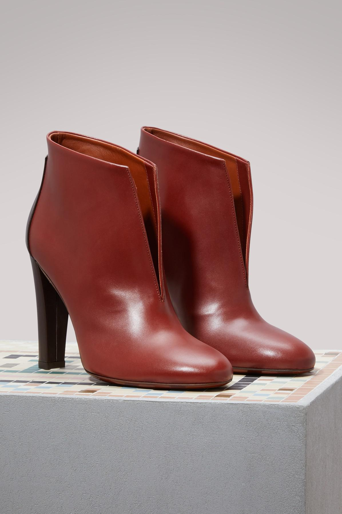 Michel Vivien Evy Leather And Suede Ankle Boots in Brown