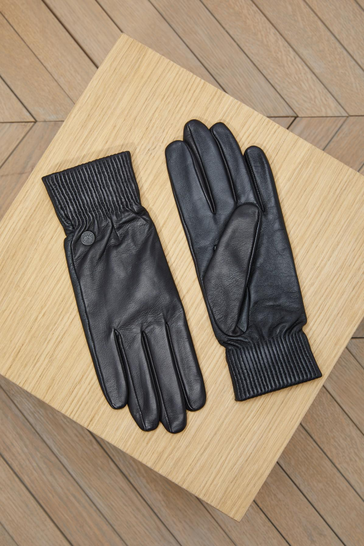 7d244fe98197 Canada Goose Womens Leather Rib Glove
