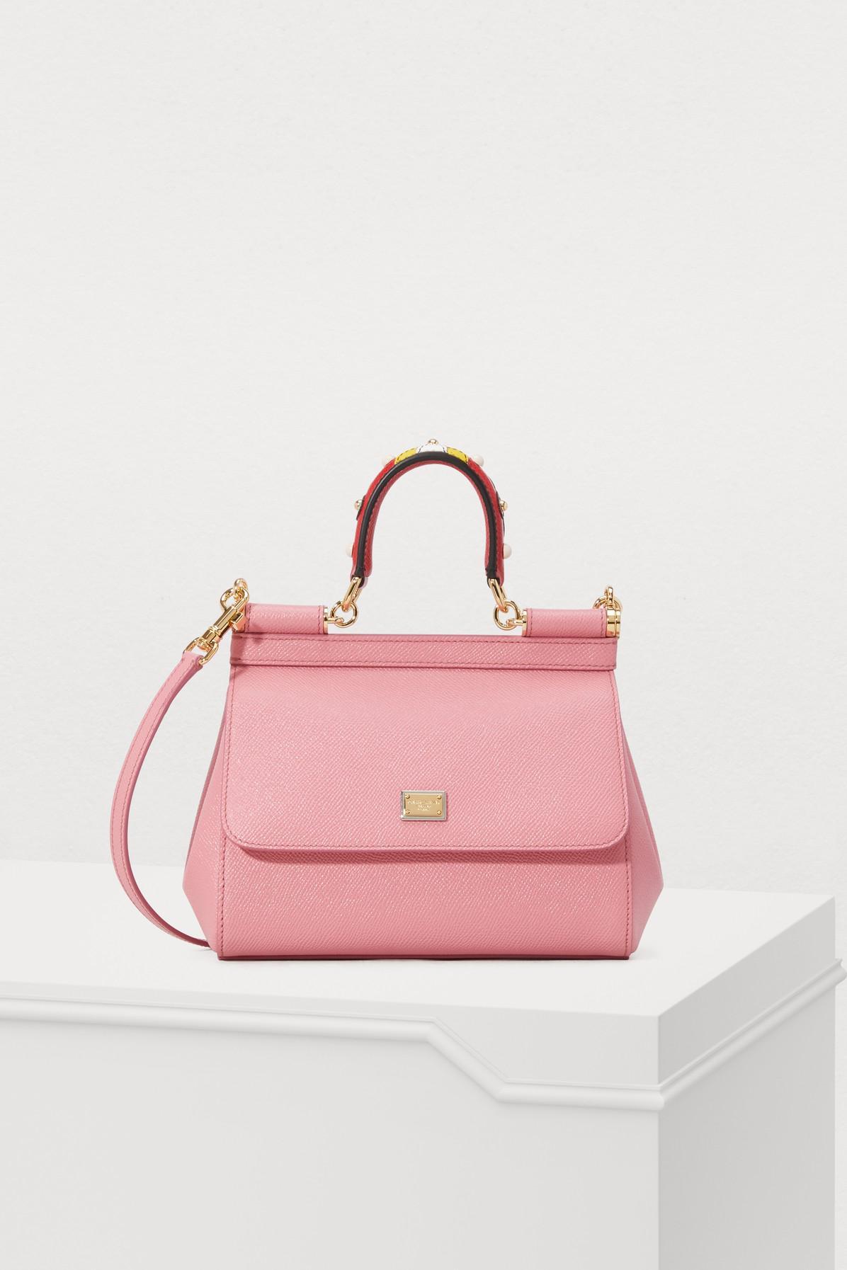 647cd3a5738c Dolce   Gabbana Sicily Pm Shoulder Bag in Pink - Lyst