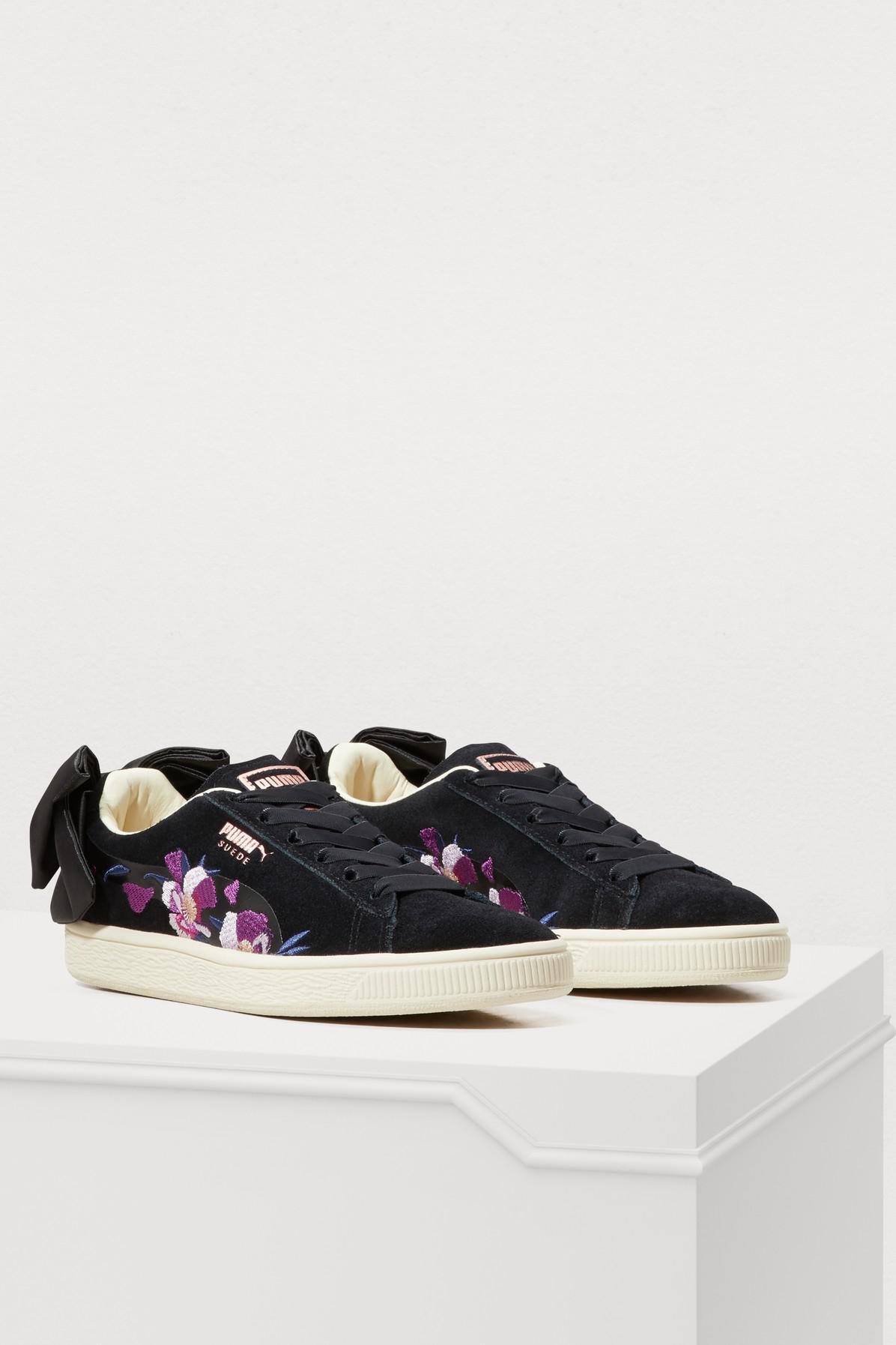 PUMA - Black Bow Flowery Sneakers - Lyst. View fullscreen 4718fe95e