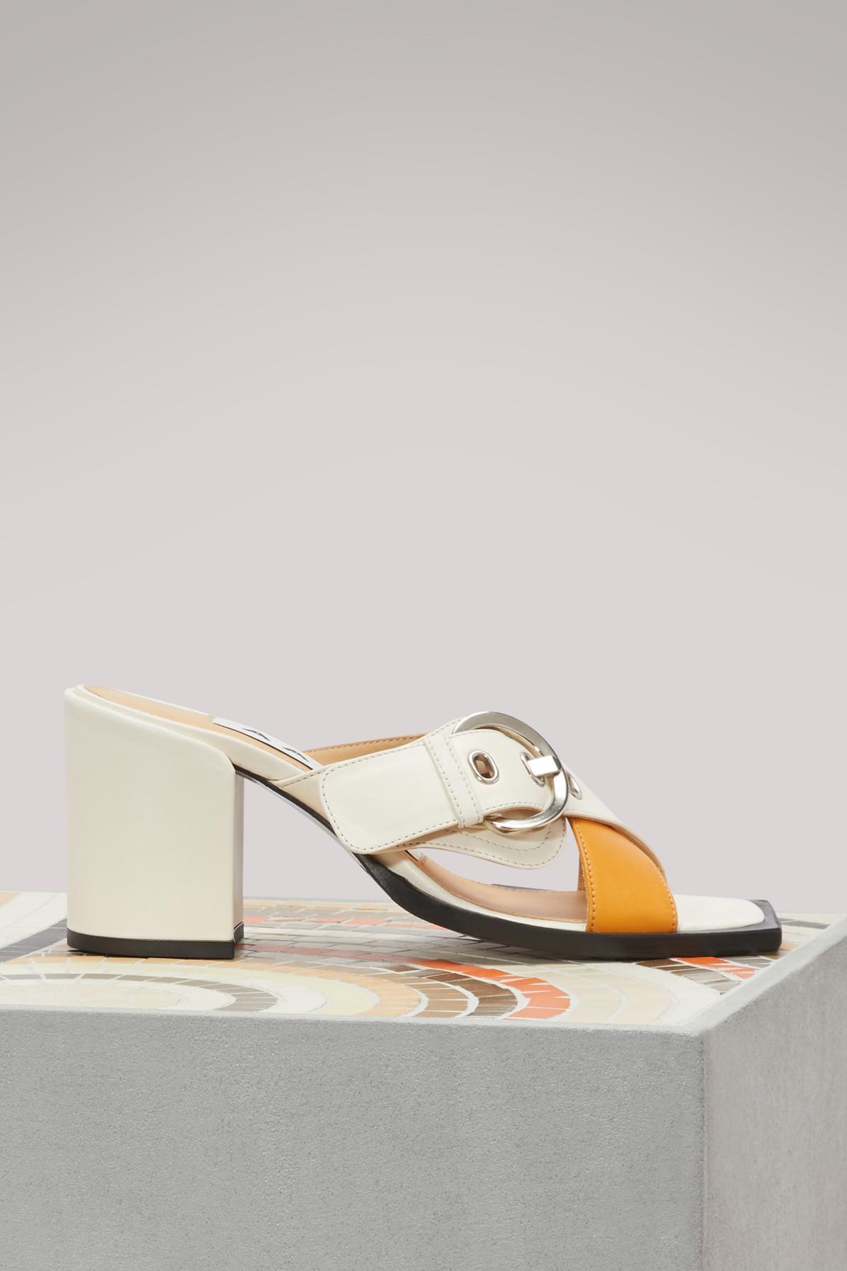 AALTO Calandra chunky high-heeled sandals TanVCQF