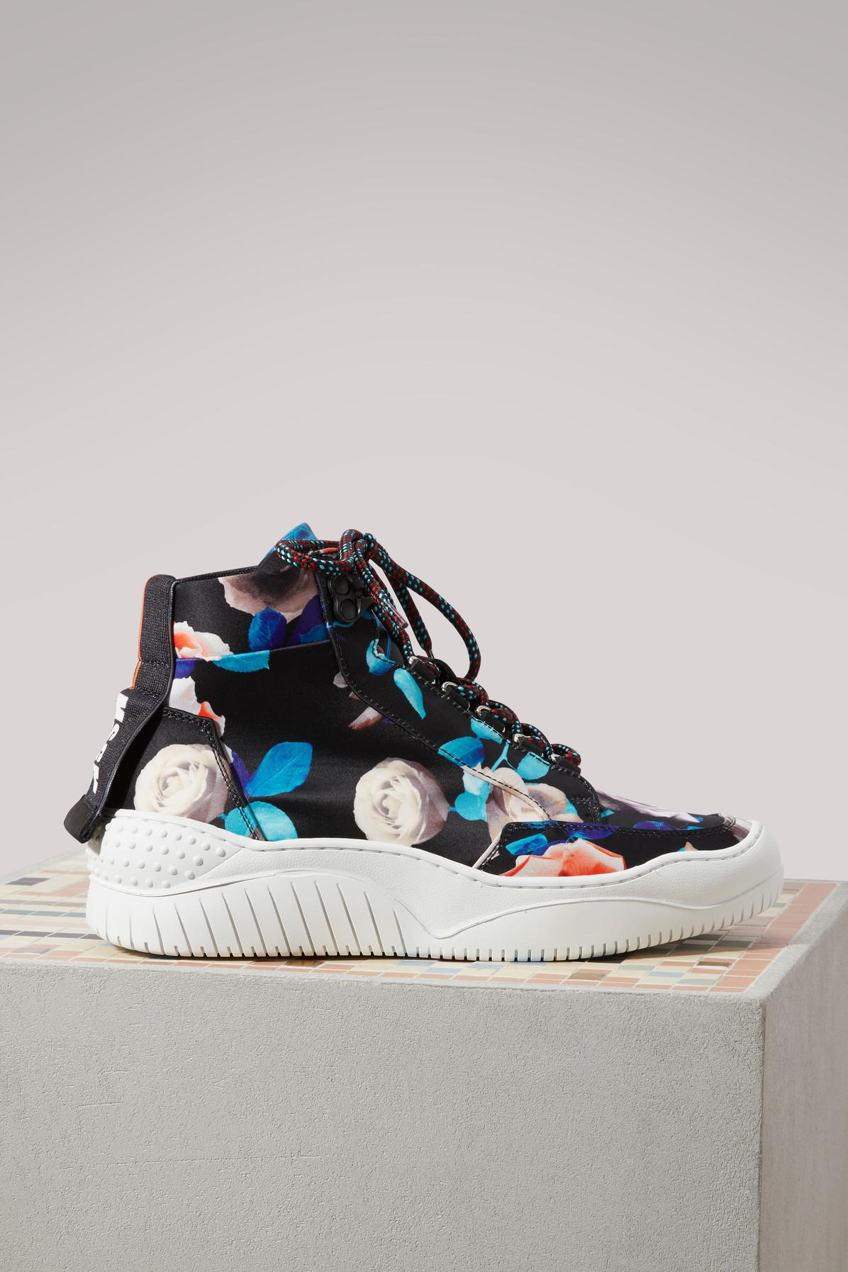 Msgm Rose printed Treks sneakers Qf9uVx1oz