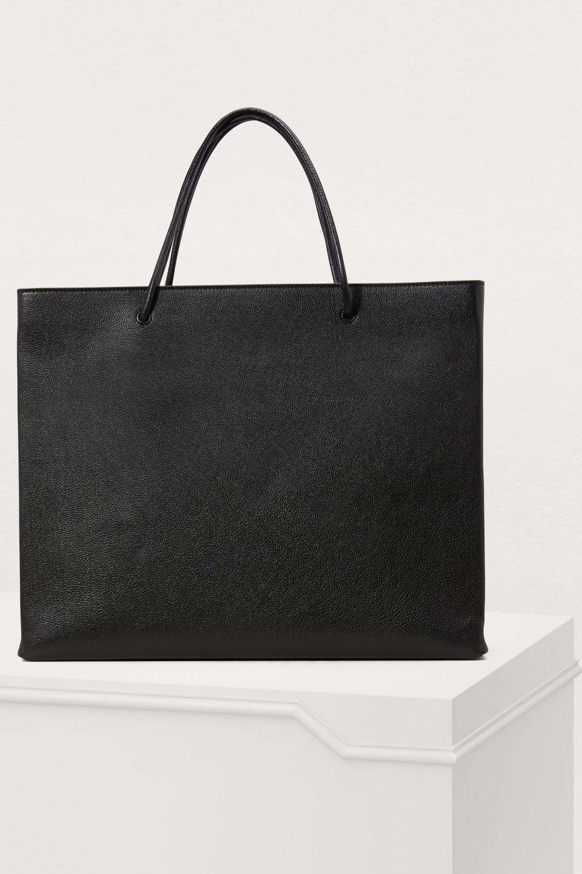 Balenciaga Denim Medium Tote Bag in Black