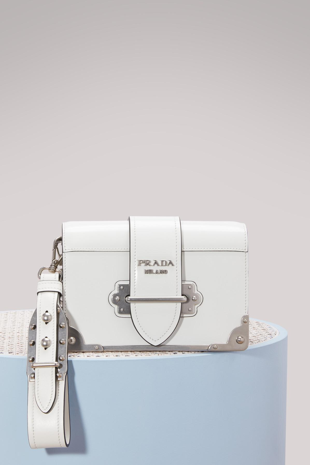 be9c071a0c Prada White Mini Cahier Crossbody Bag