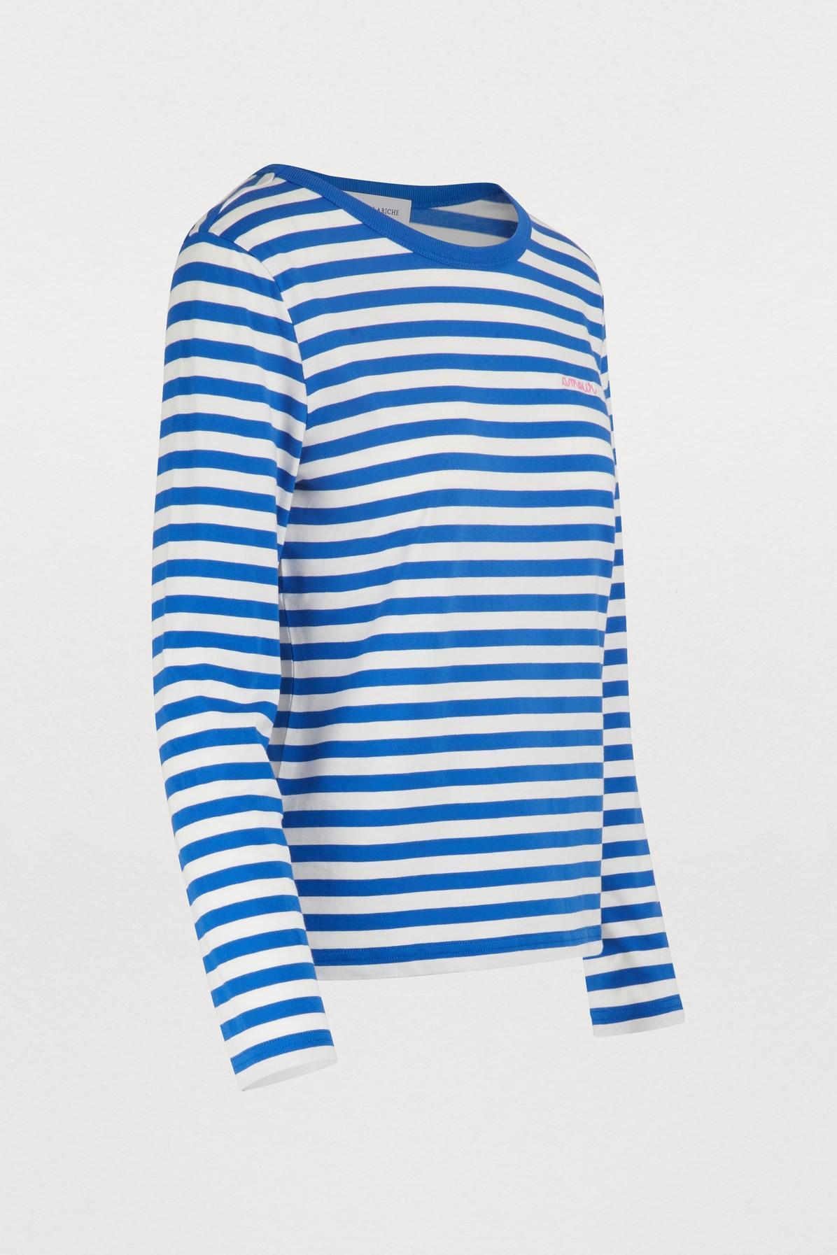 57b1a93727 Maison Labiche - Blue Amour Striped T-shirt - Lyst. View fullscreen