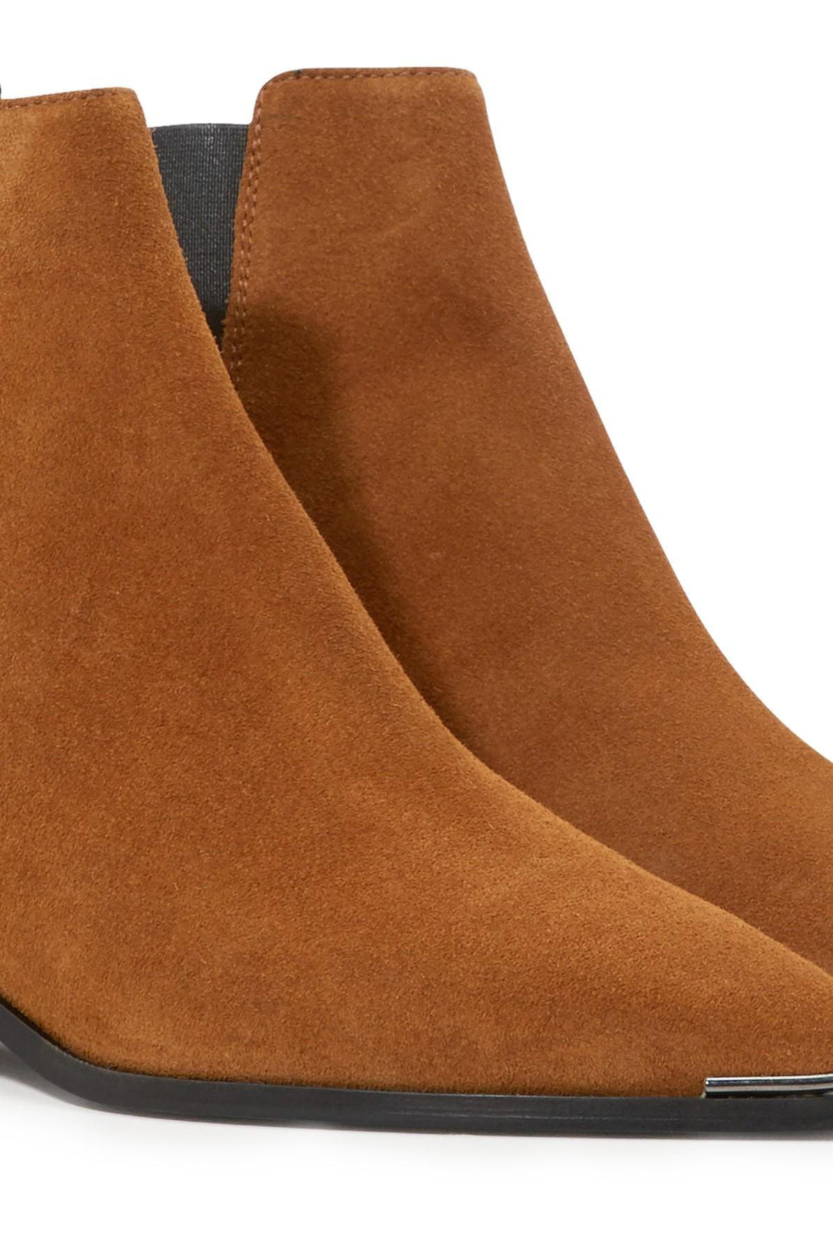 Acne Studios Jensen Ankle Boots in Taupe Grey (Brown)
