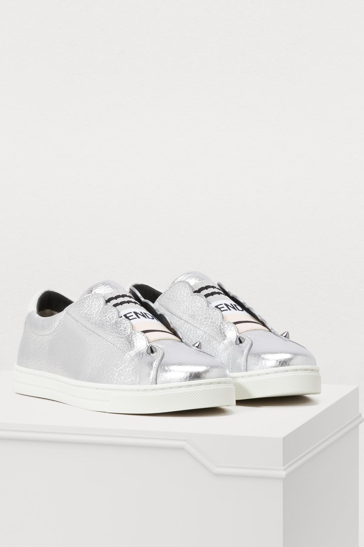 fe830c8ec84f3 Fendi - White Rockoko Sneakers - Lyst. View fullscreen