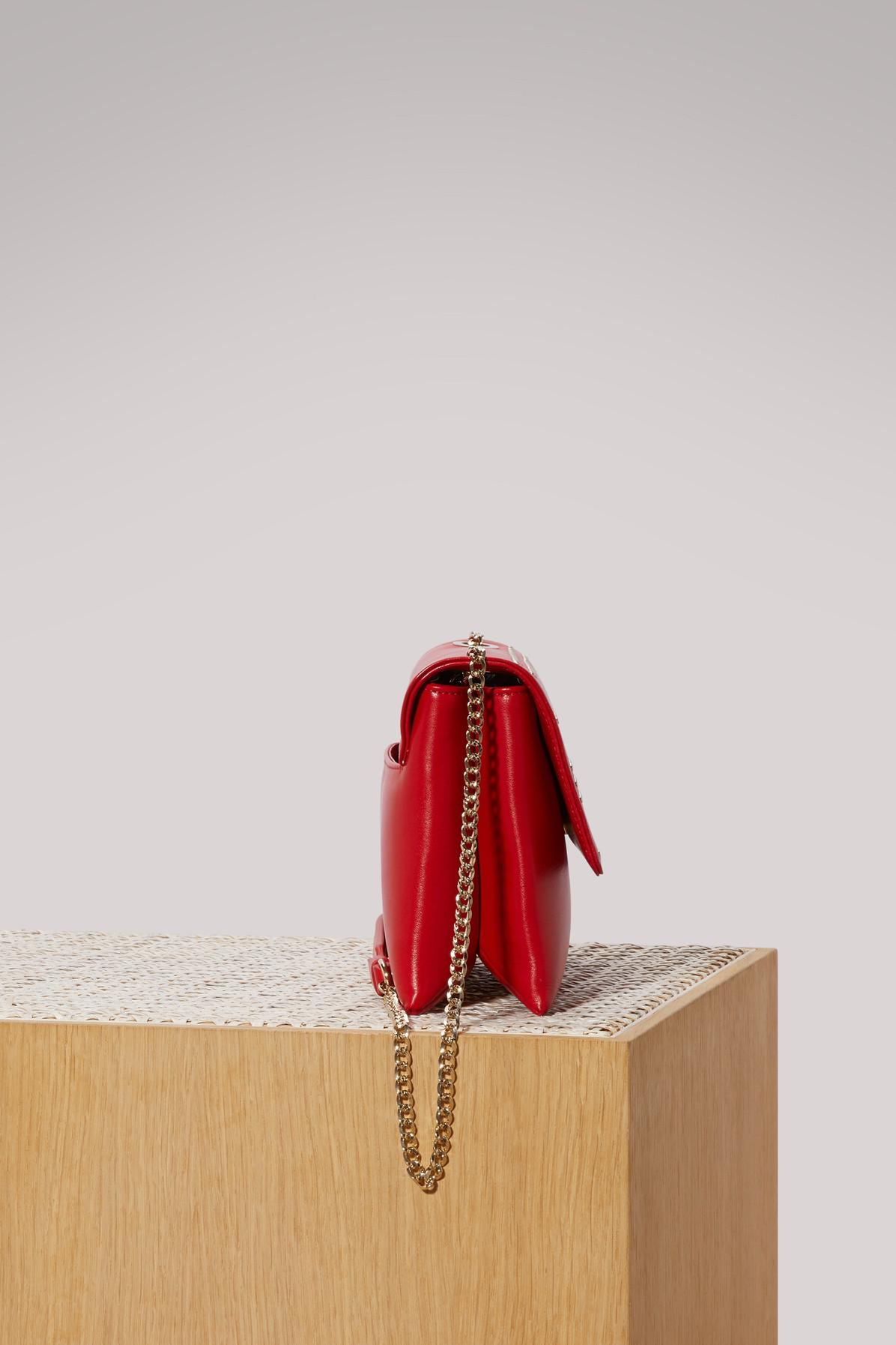 Lanvin Mini Sugar Crossbody Bag in Red