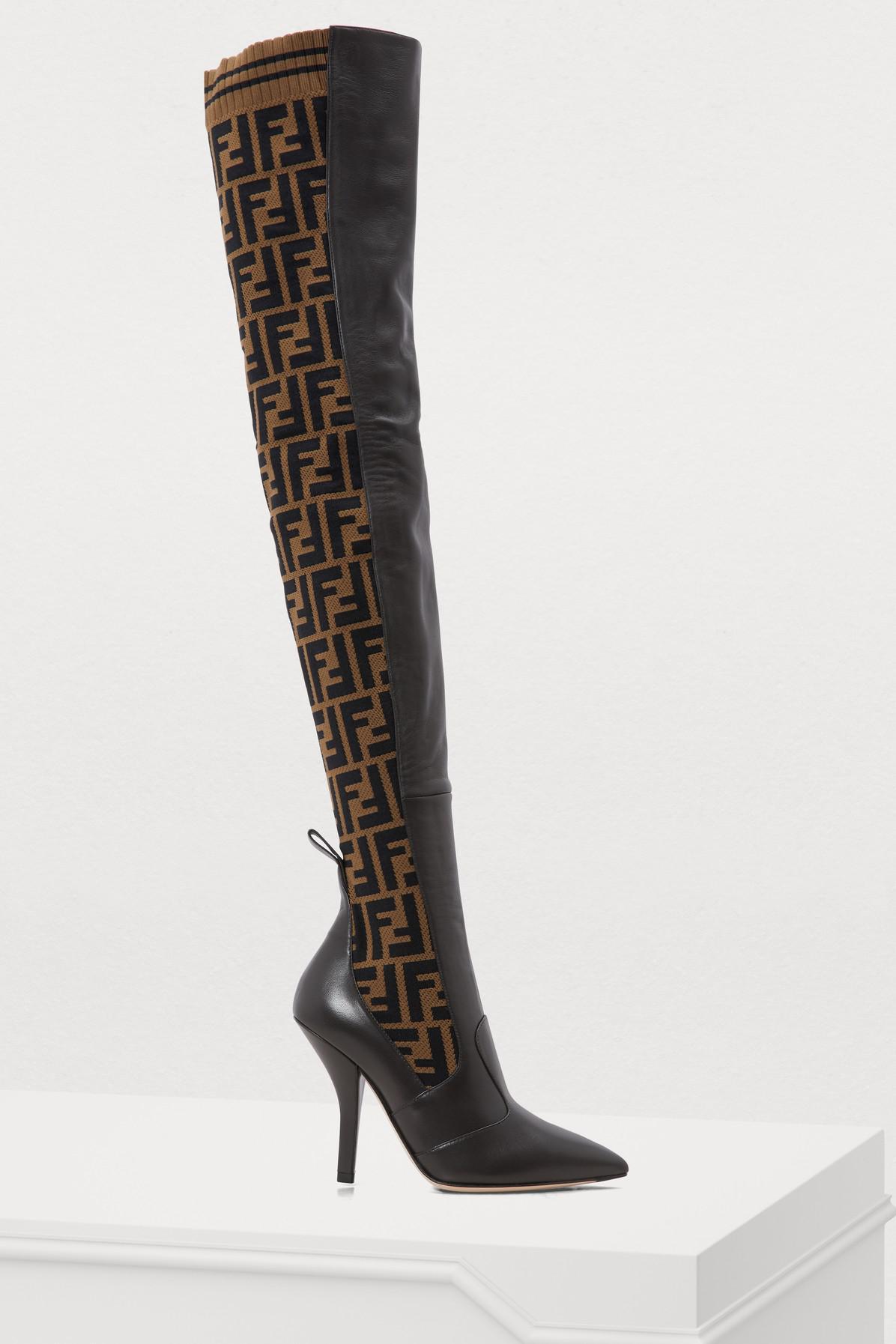 08d06ed0 Women's Black Rockoko Heeled Thigh-high Boots