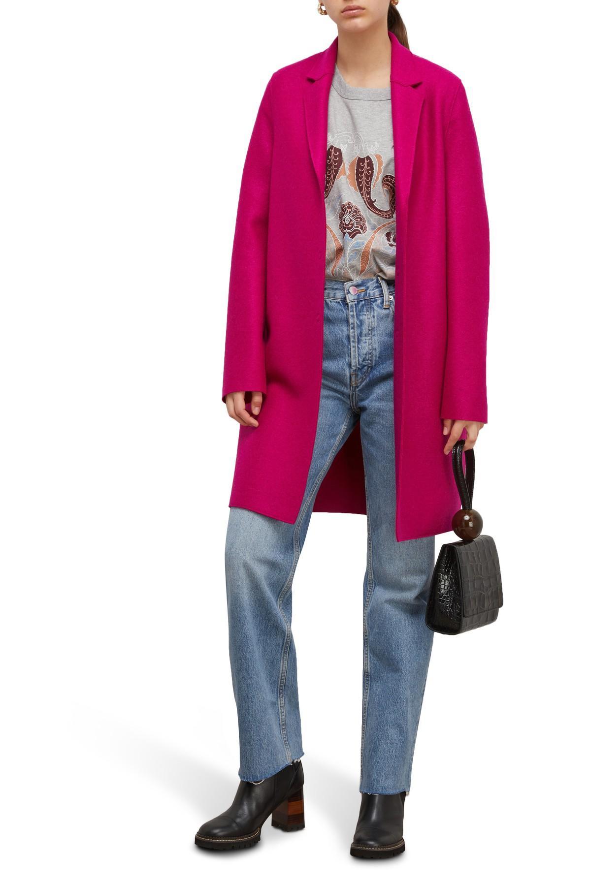 Manteau Cocoon en laine pressée Laines Harris Wharf London en coloris Rose PN6cn