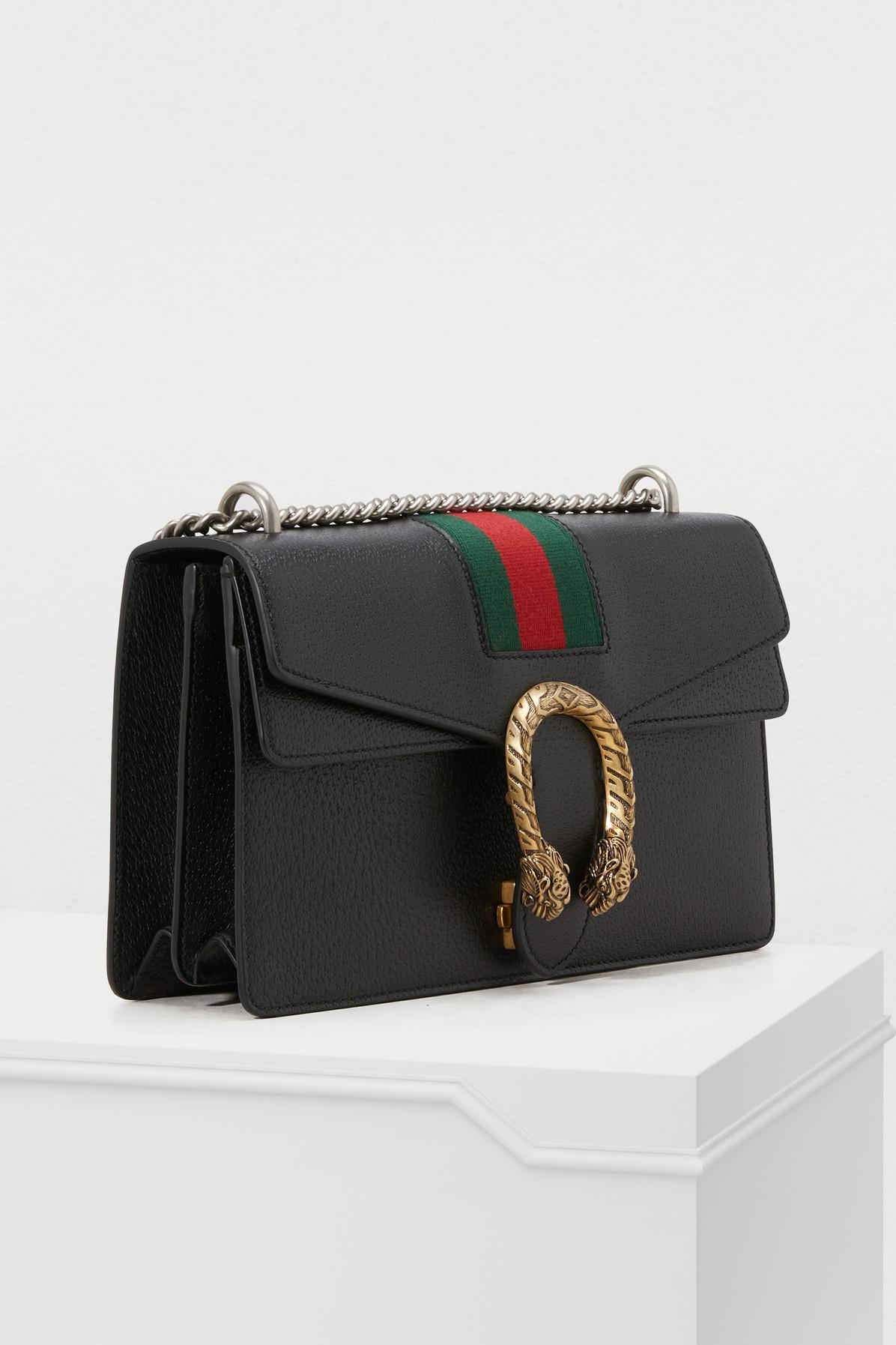 015917ce3cb Gucci - Black Dionysus Leather Shoulder Bag - Lyst. View fullscreen