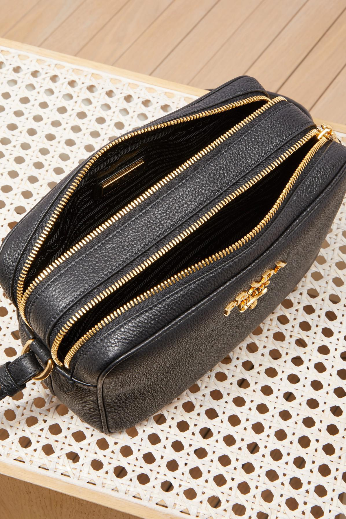 c50d75b95e64ab Prada Caméra Bag With Double Strap in Black - Lyst