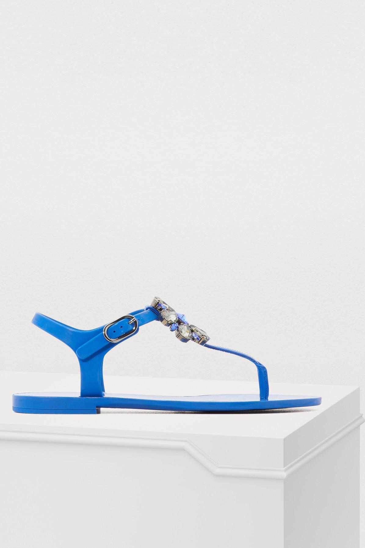 ab08bb9fa412 Dolce   Gabbana Jelly Sandals in Blue - Lyst