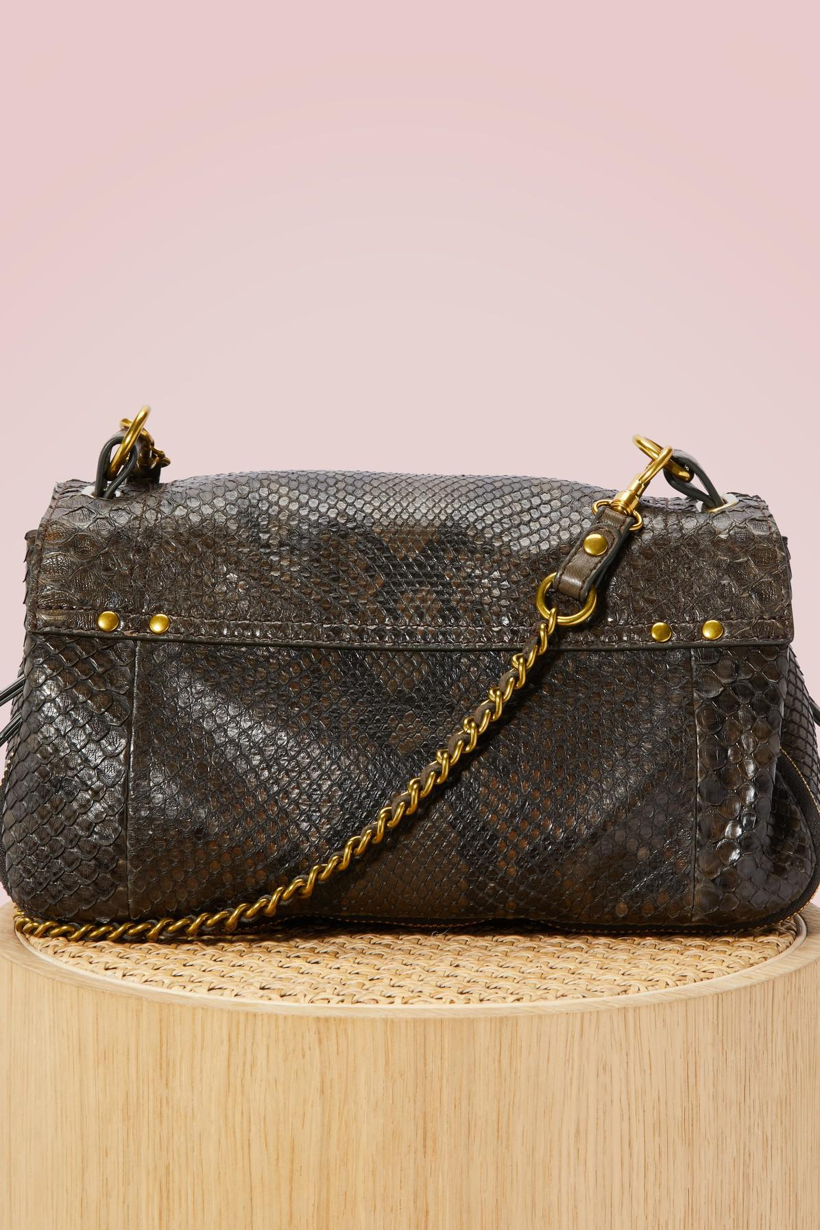 Jérôme Dreyfuss Leather Python Bobi Crossbody