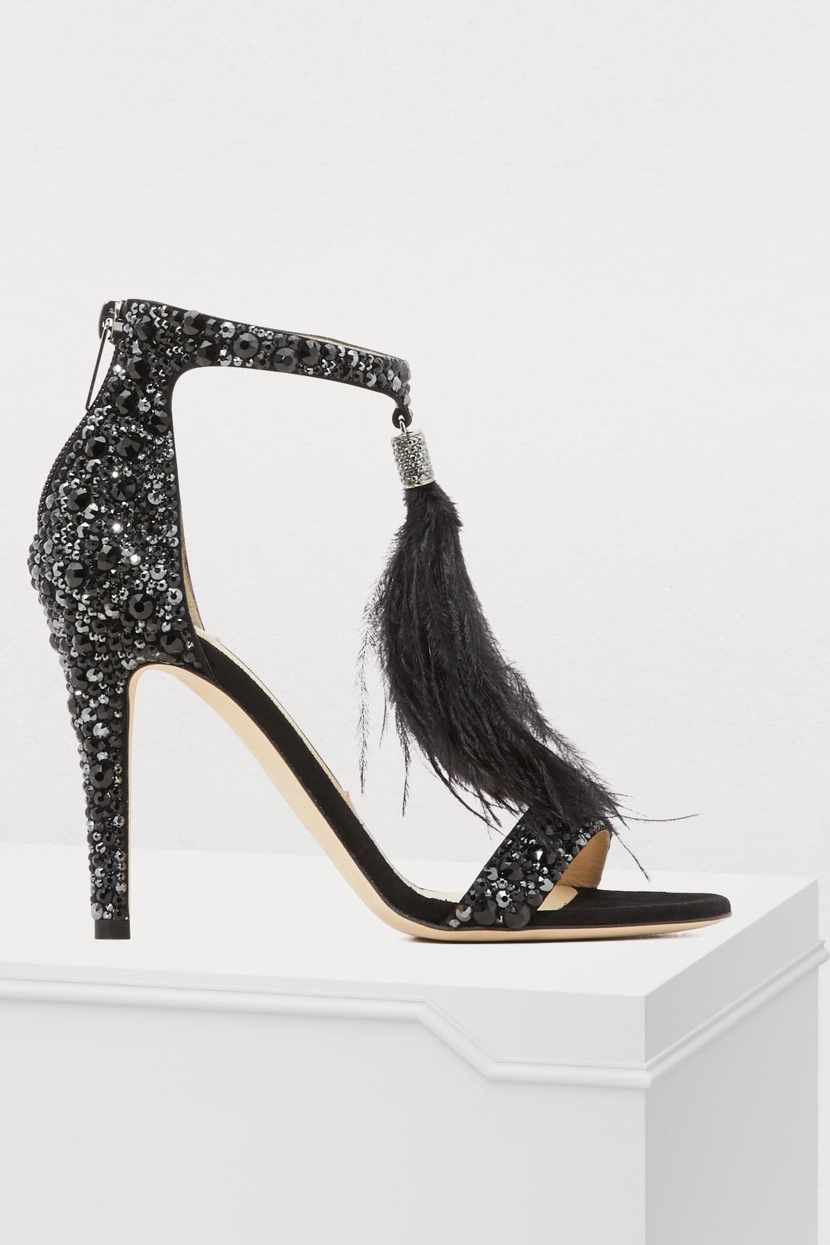 90da0a5f44ca7 Jimmy Choo Viola 100 Sandals in Black - Save 72% - Lyst