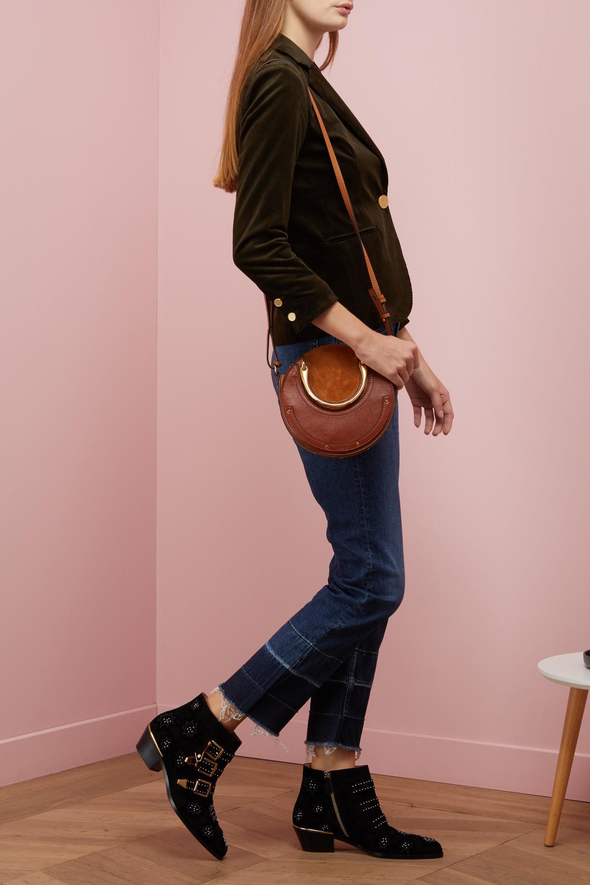 chlo susanna velvet ankle boots in black lyst. Black Bedroom Furniture Sets. Home Design Ideas