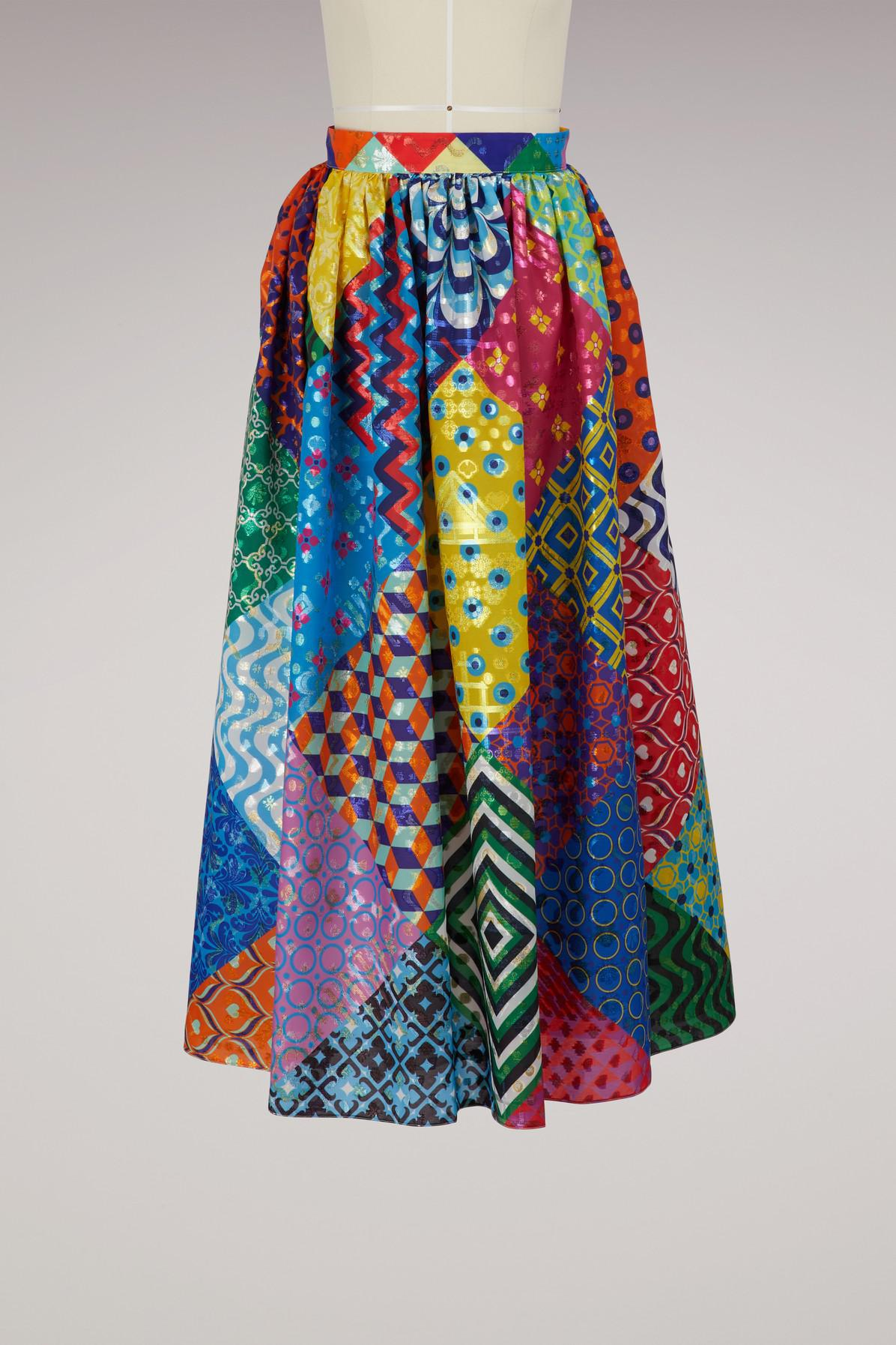 910f86a083 Lyst - Mary Katrantzou Egret Printed Skirt in Blue