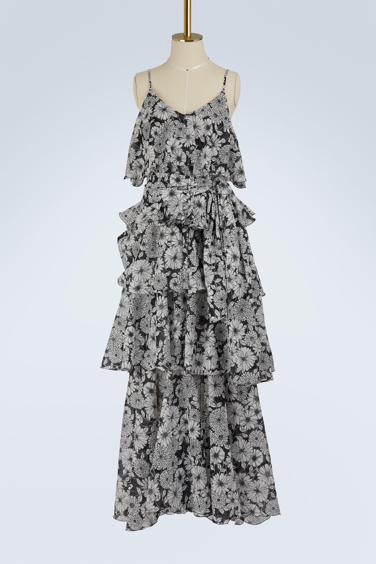 Imaan ruffled floral-print cotton dress Lisa Marie Fernandez Ct6NPdLMDj