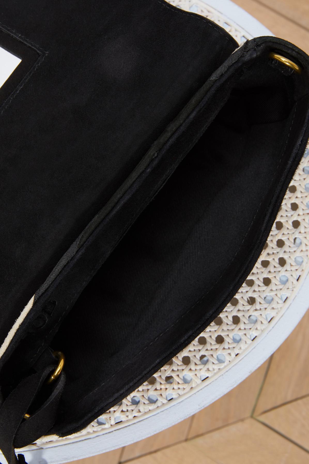 Jérôme Dreyfuss Leather Bob Patchwork Zigzag Crossbody in Black