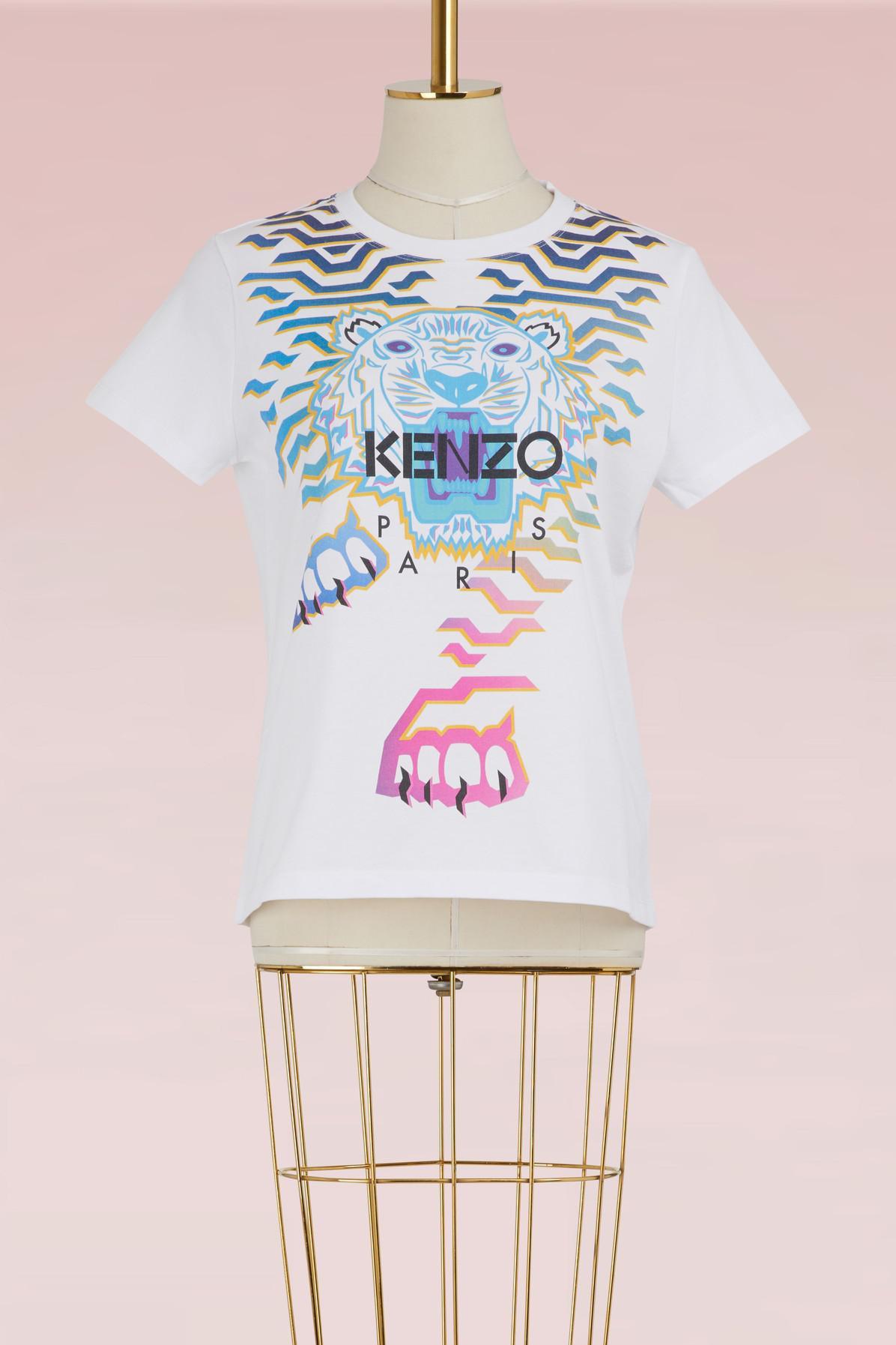 Qalc5rj34 Shirt X Tiger White T Rainbow Kenzo In Lyst Geo Qdhrts