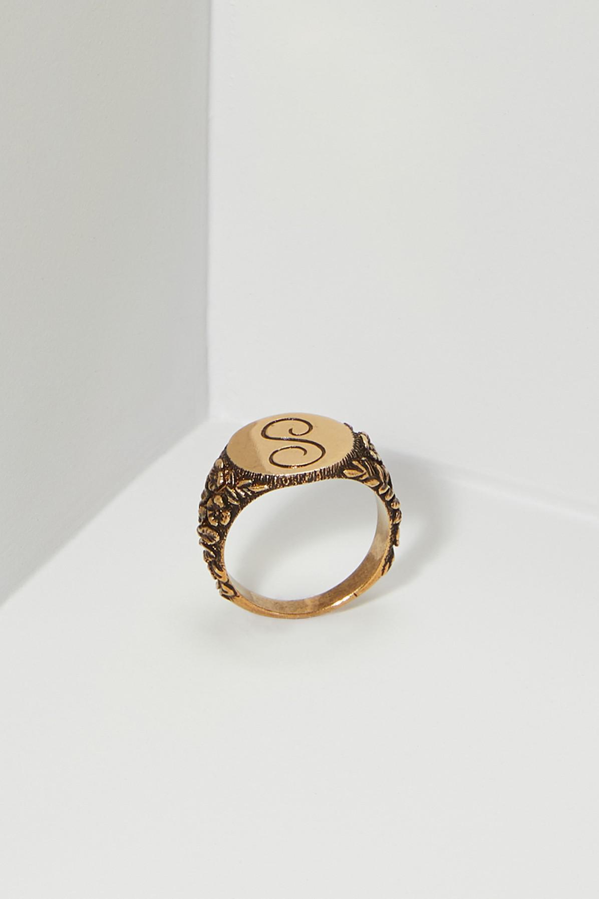 Stella McCartney Brass Ring in Metallic