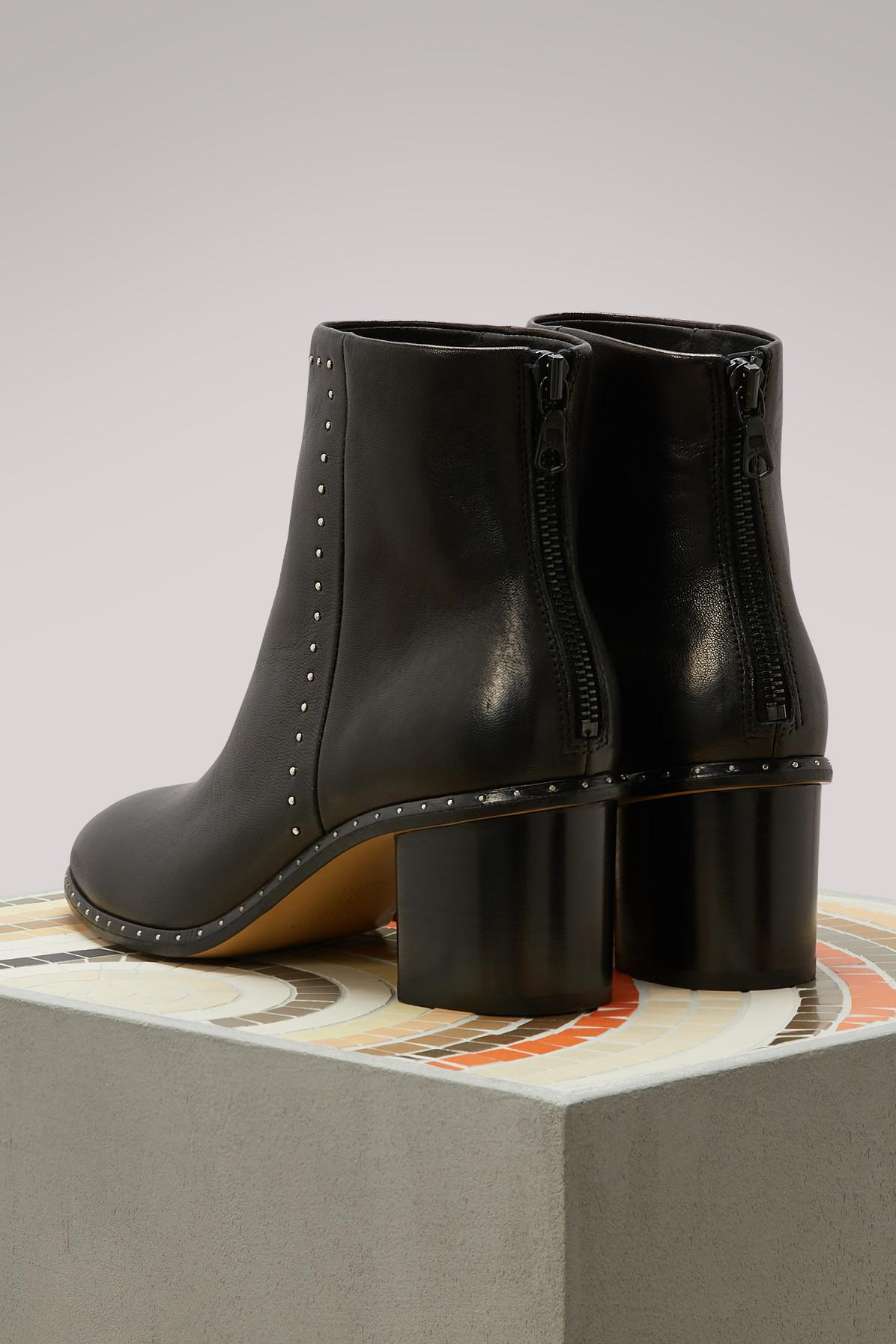 Rag & Bone Leather Willow Boots in Black