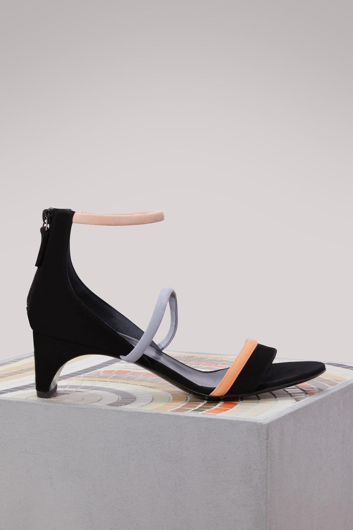 699620b0b Lyst - Pierre Hardy Riva Bella Suede Sandals in Black - Save 40%