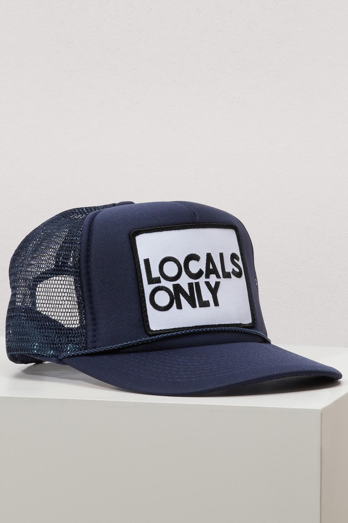 7c642b5ee7a Aviator Nation Cotton Locals Only Cap in Blue - Lyst