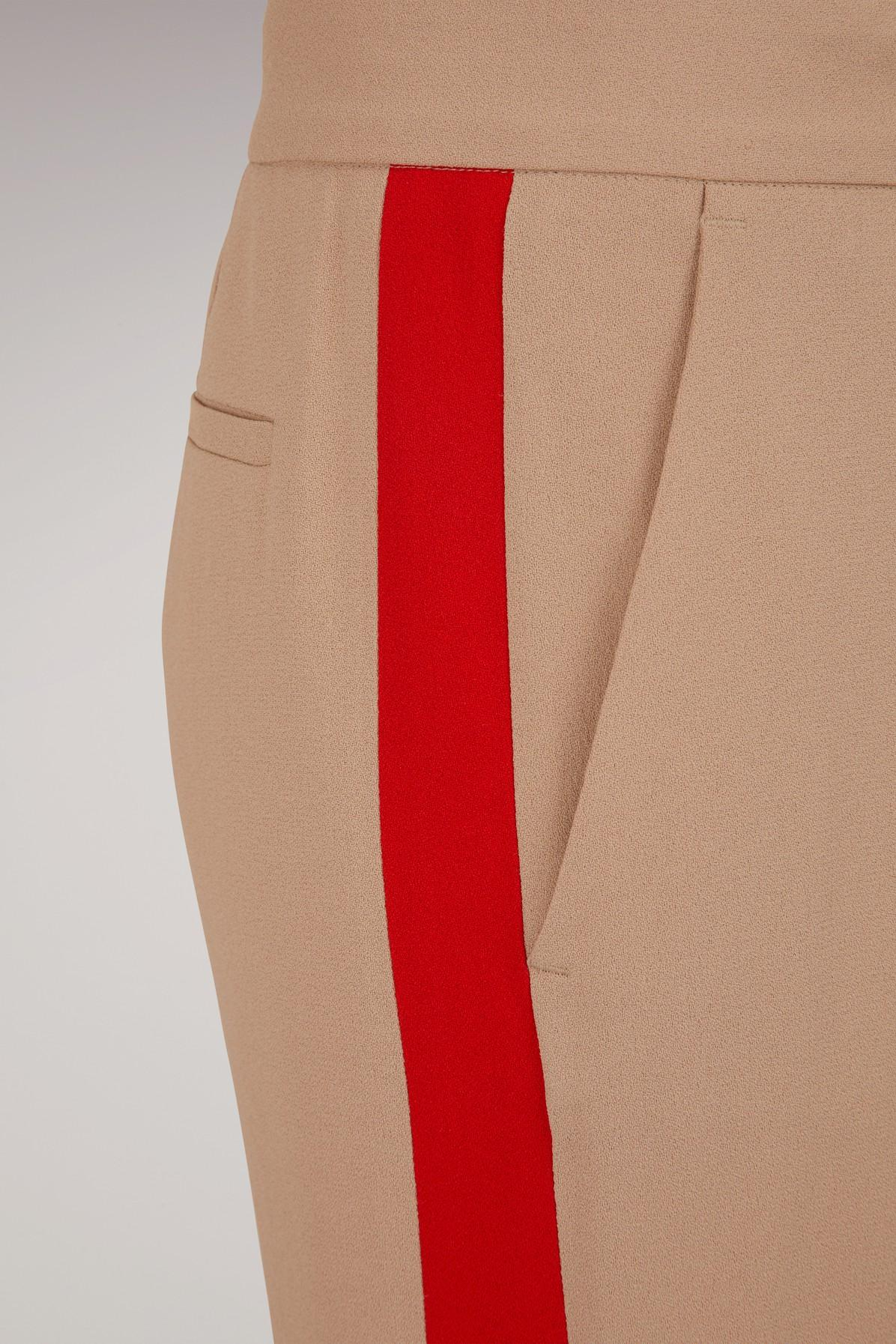 MSGM Pants With Side Stripes in Beige (Natural)