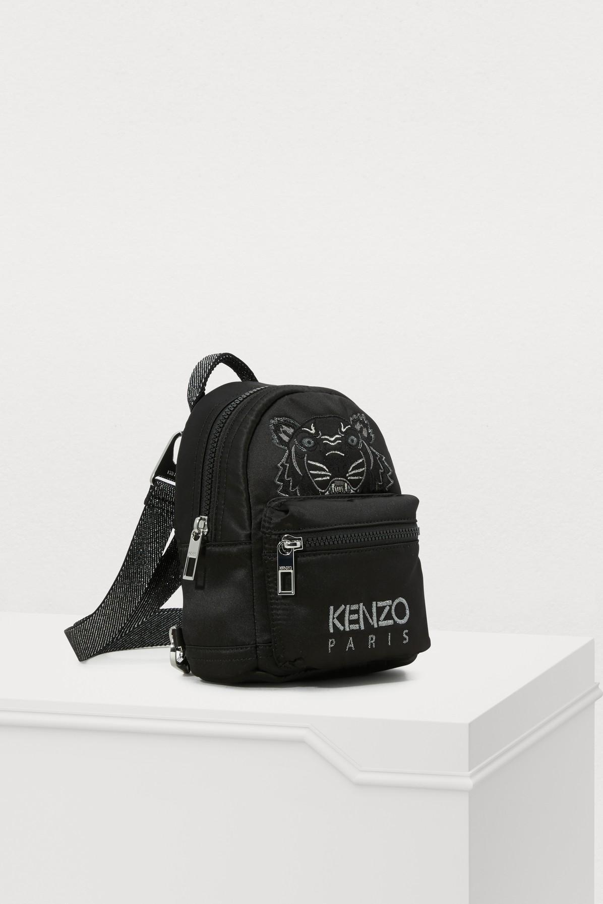 124a3423353 KENZO - Black Mini Satin Tiger Rucksack  holiday Capsule  - Lyst. View  fullscreen