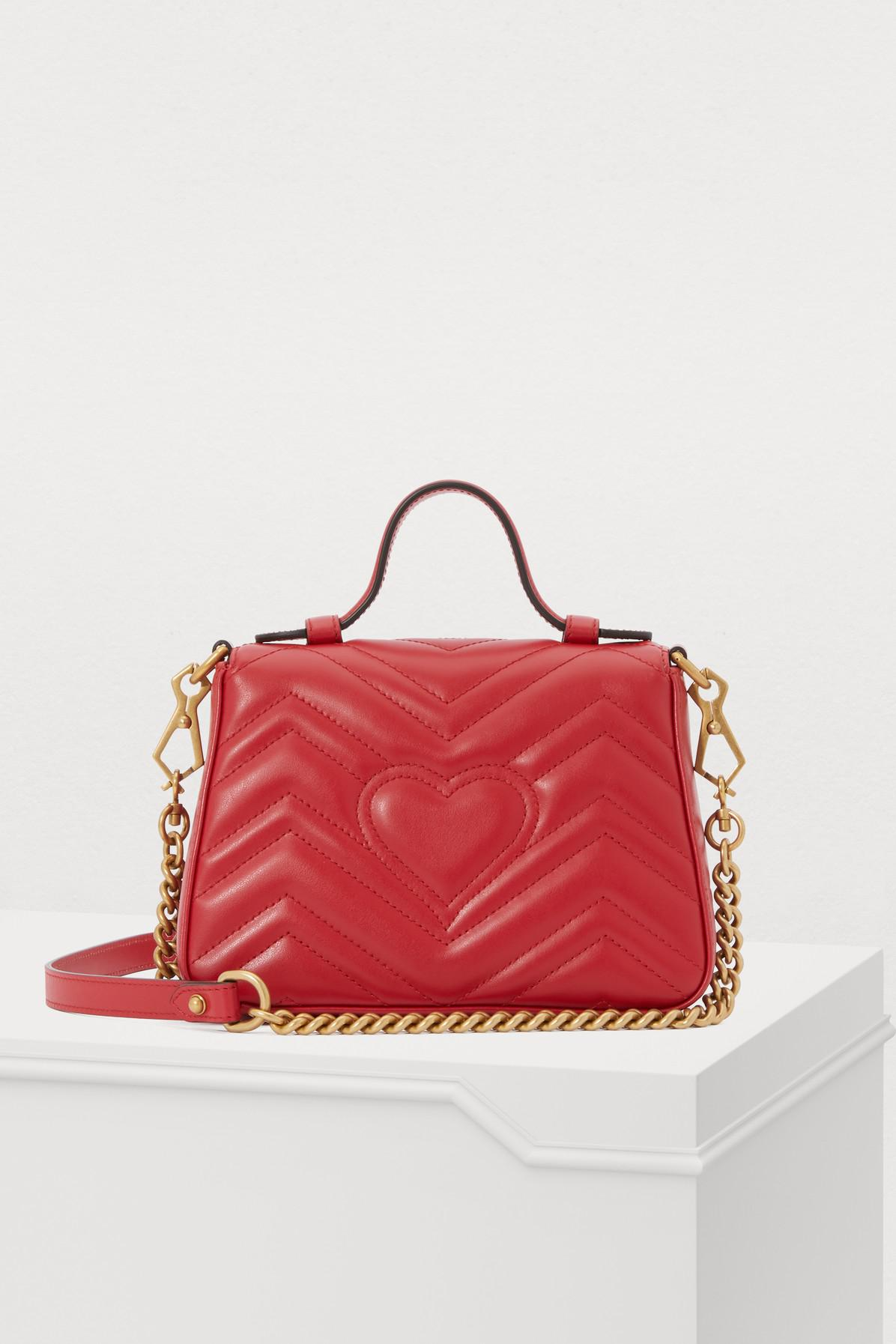 Gucci - Red GG Marmont Small Handbag - Lyst. View fullscreen 8fe91a557
