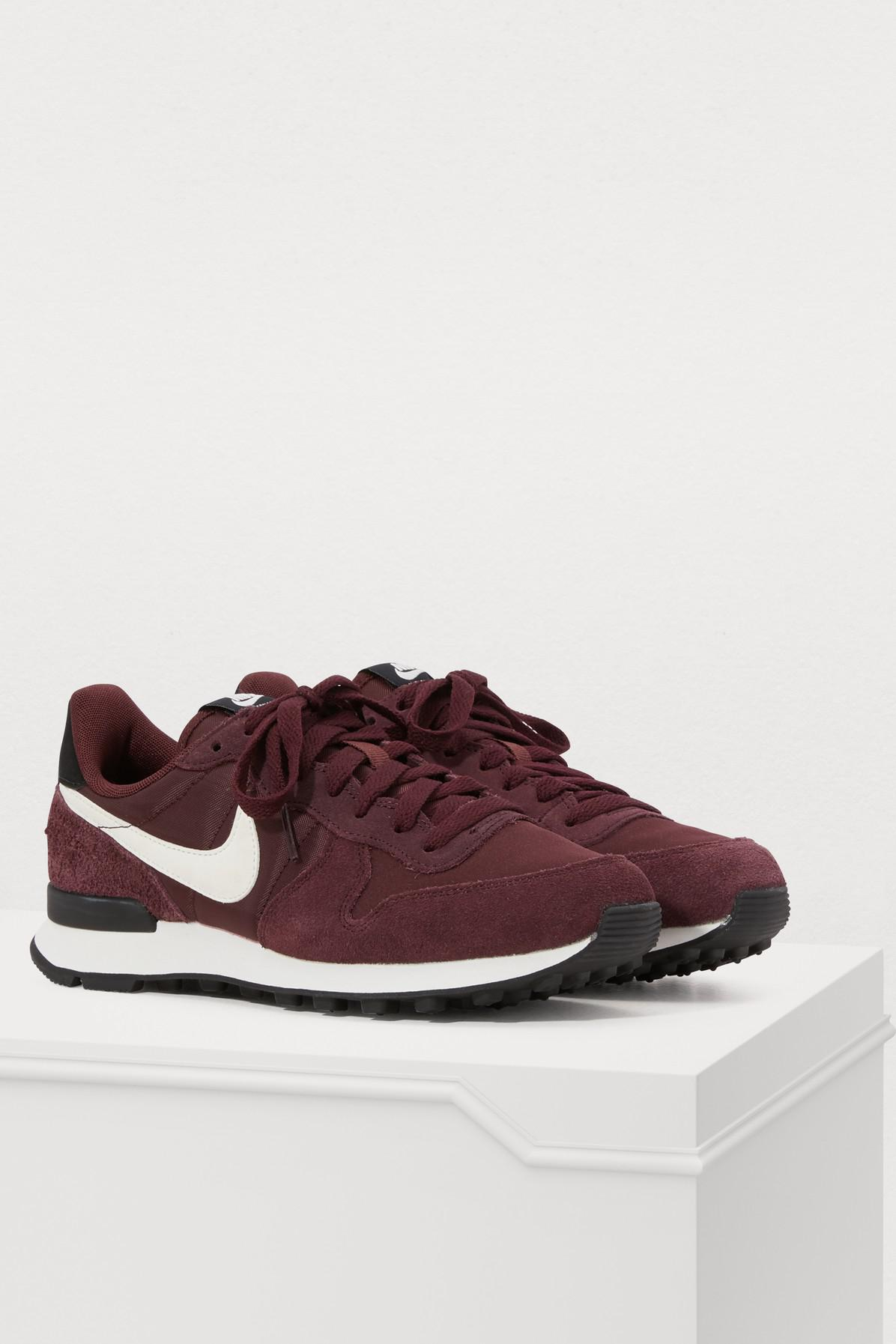 Nike Burgundy Internationalist Suede