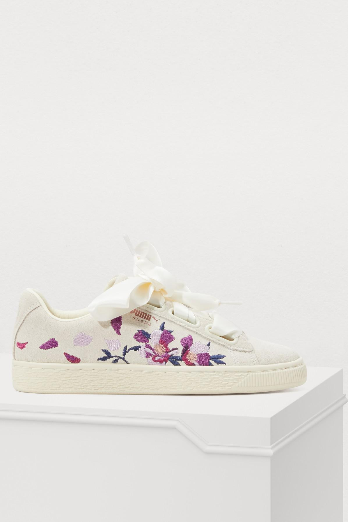 ea3482825e66 Lyst - PUMA Heart Flower Sneakers in White