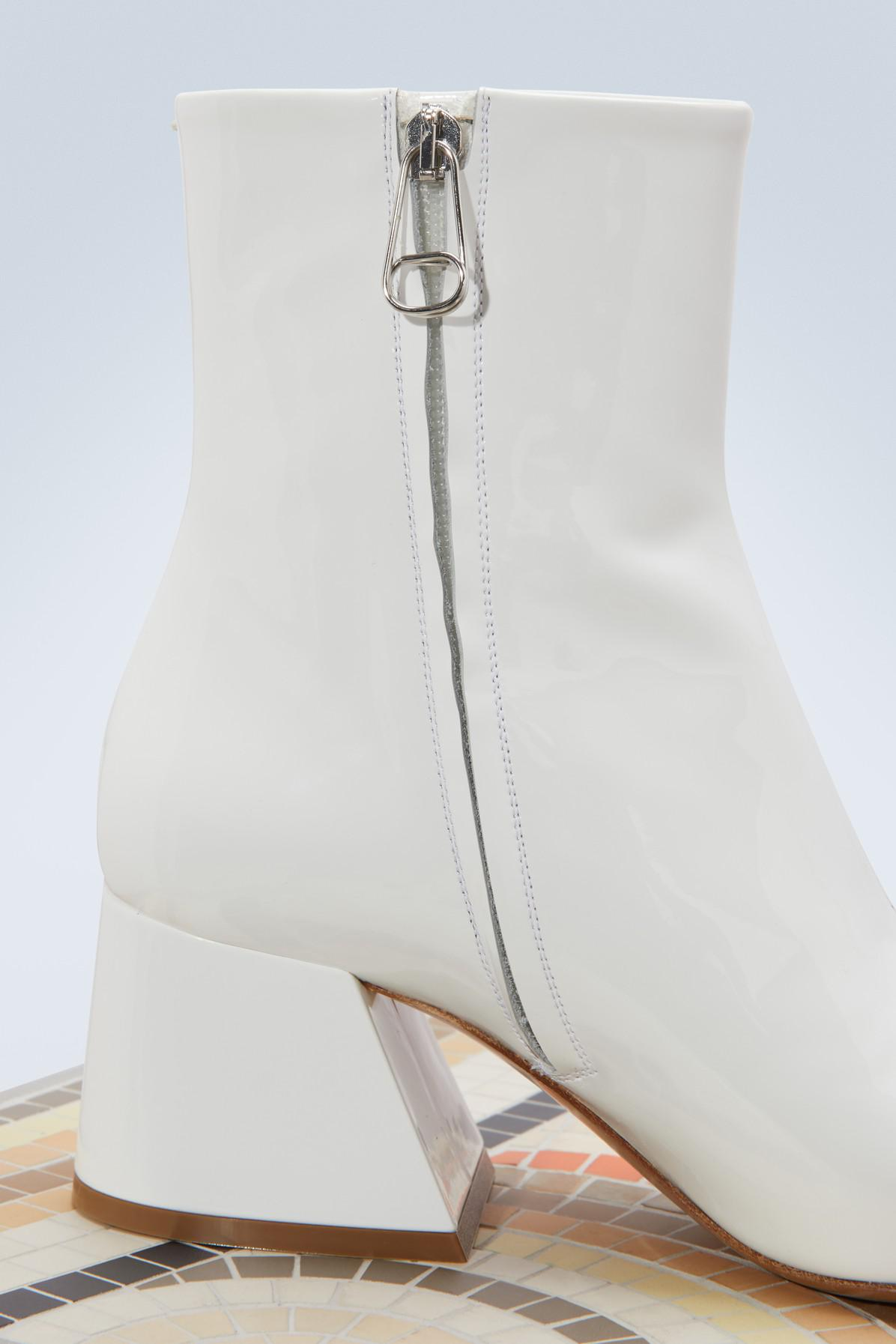 Maison Margiela Leather Patent Ankle Boots in White
