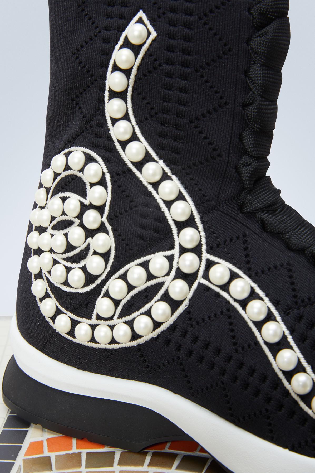 Fendi Lace Sock Sneakers in Black