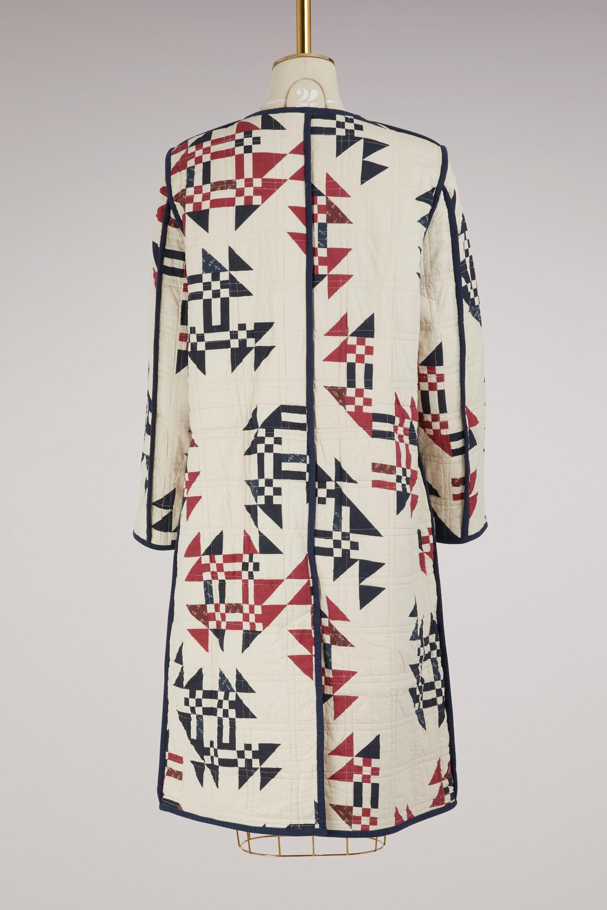 Coton Lyst Plein Leist En Afficher Écran Manteau Multicolor Isabel Marant qYwUaxR1wX