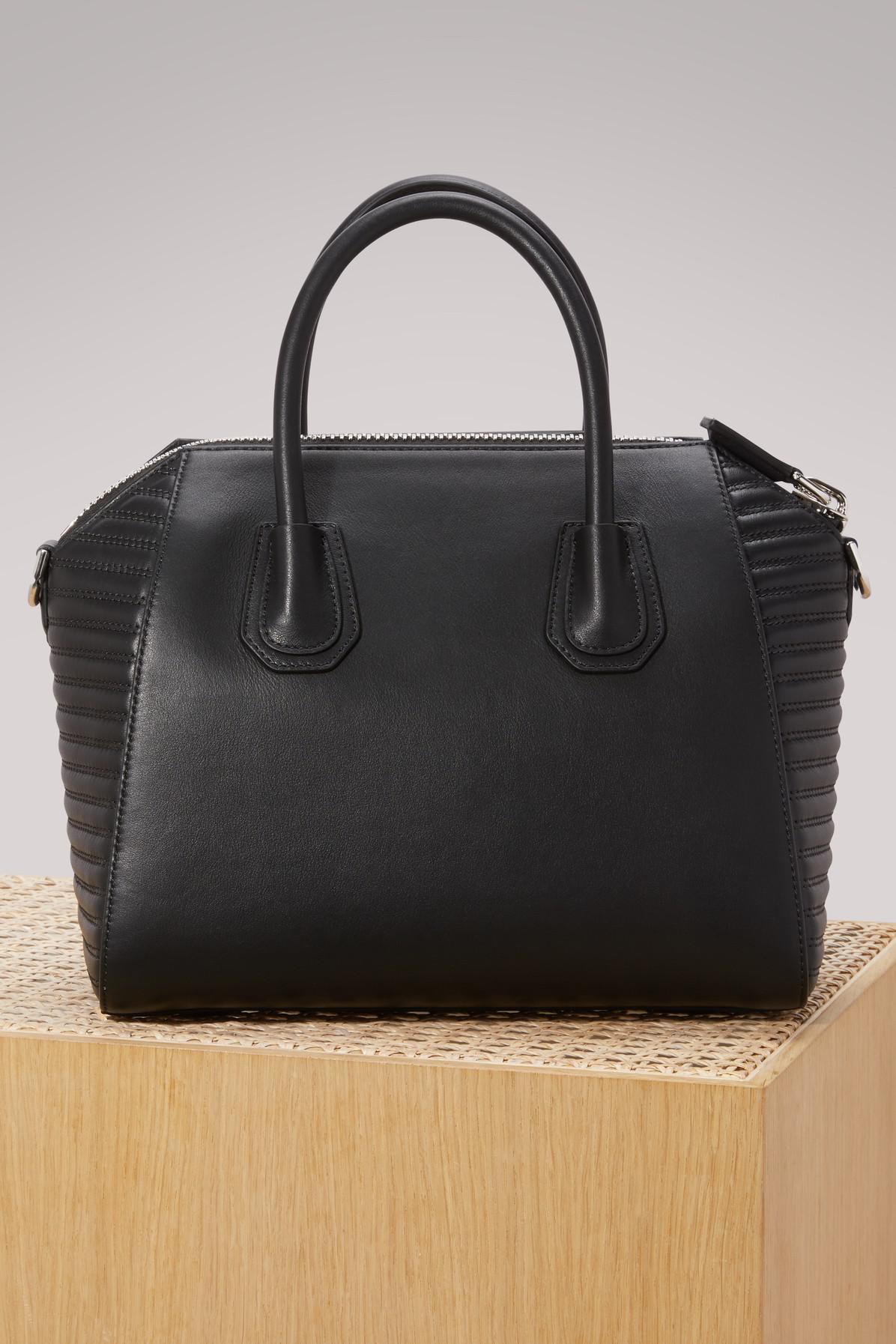 02504769f254 Lyst - Givenchy Antigona Biker Handbag in Black