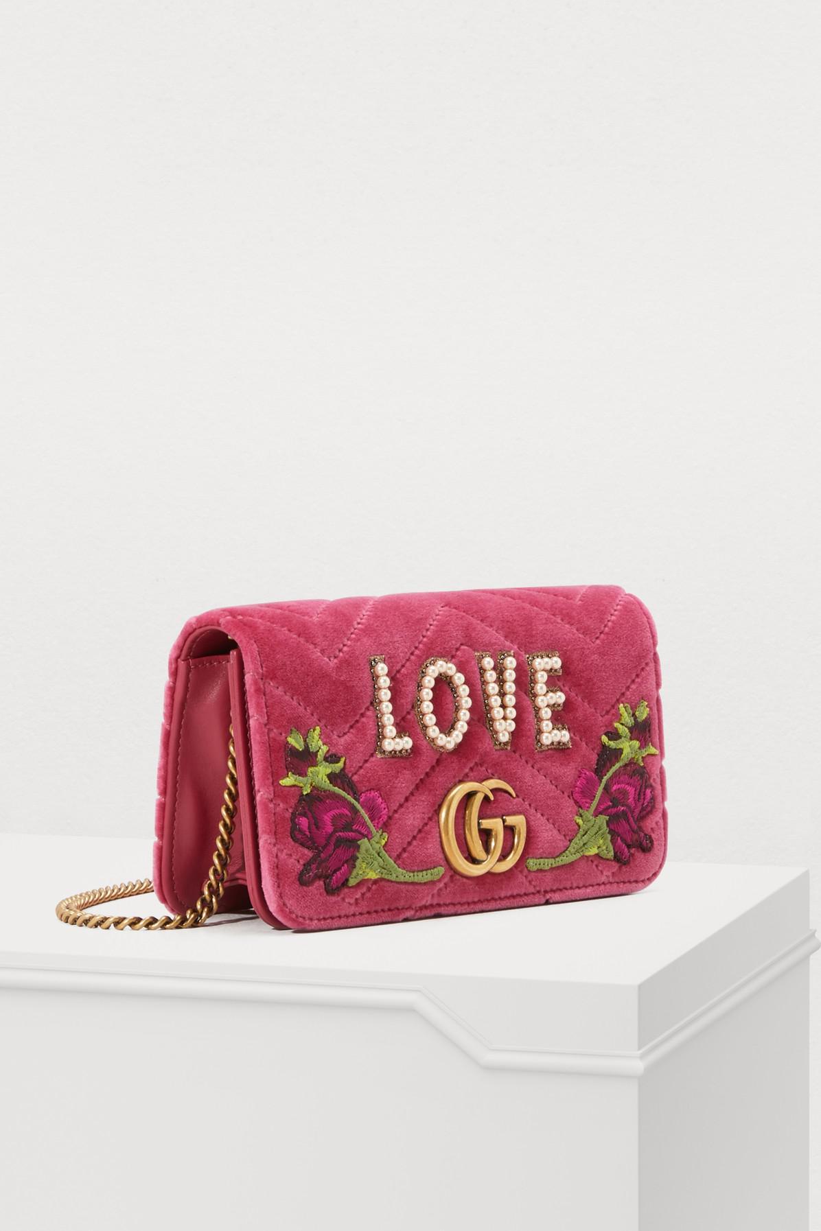 fd681a9d64733e Gucci - Pink GG Marmont Love Mini Bag - Lyst. View fullscreen