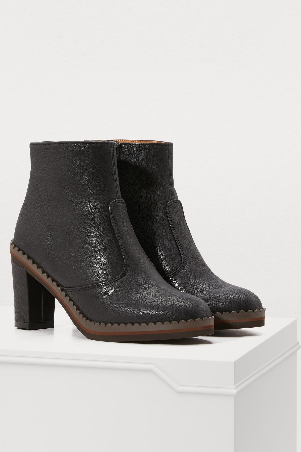 See By Chloé Stasya Ankle Boots in Nero (Black)