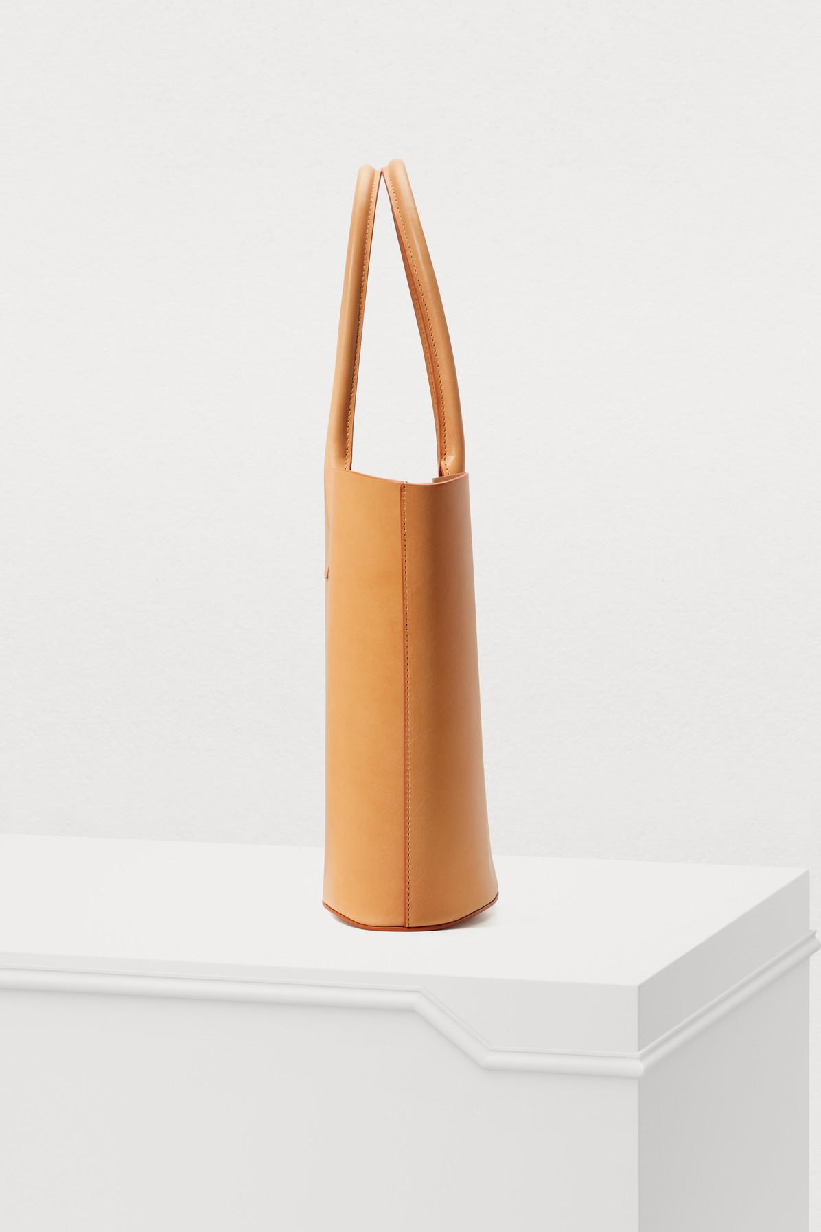 Mansur Gavriel Leather Triangle Vegetable-tanned Tote Bag