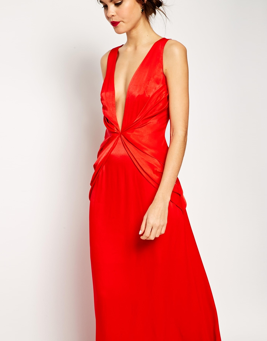 Asos red dress maxis