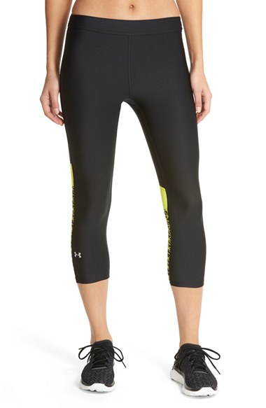 Lyst under armour 39 armour 39 heatgear capris in black for Thrilla in manila shirt under armour