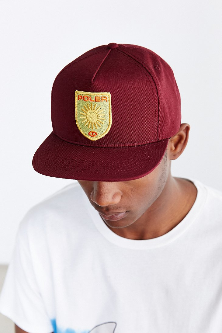 7b53f50cb5c Lyst - Poler D Patches Snapback Hat in Purple