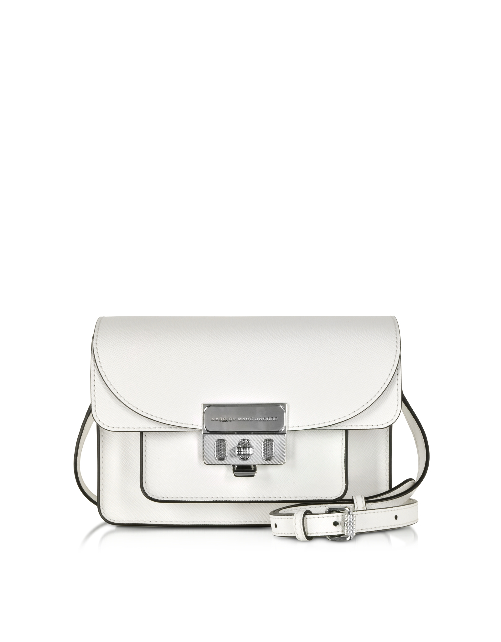 8034b71d92d Marc By Marc Jacobs Lip Lock Star White Xbody Bag in White - Lyst