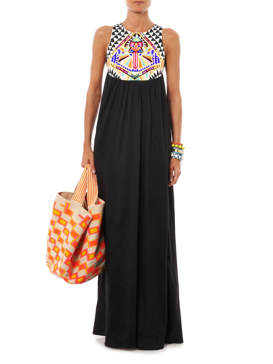 Lyst Mara Hoffman Cosmic Fountain Embroidered Maxi Dress