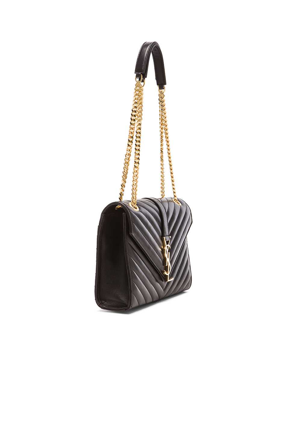 Black Monogram In Laurent Lyst Chain Envelope Saint Medium Bag tOxwx8q