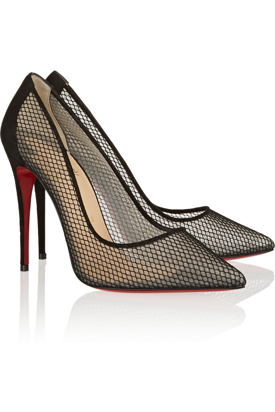 520c7b972d Christian Louboutin Follies Resille 100 Suede-trimmed Mesh Pumps in ...