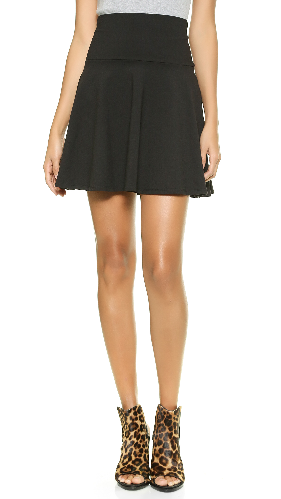 Susana monaco High Waisted Flare Skirt in Black | Lyst