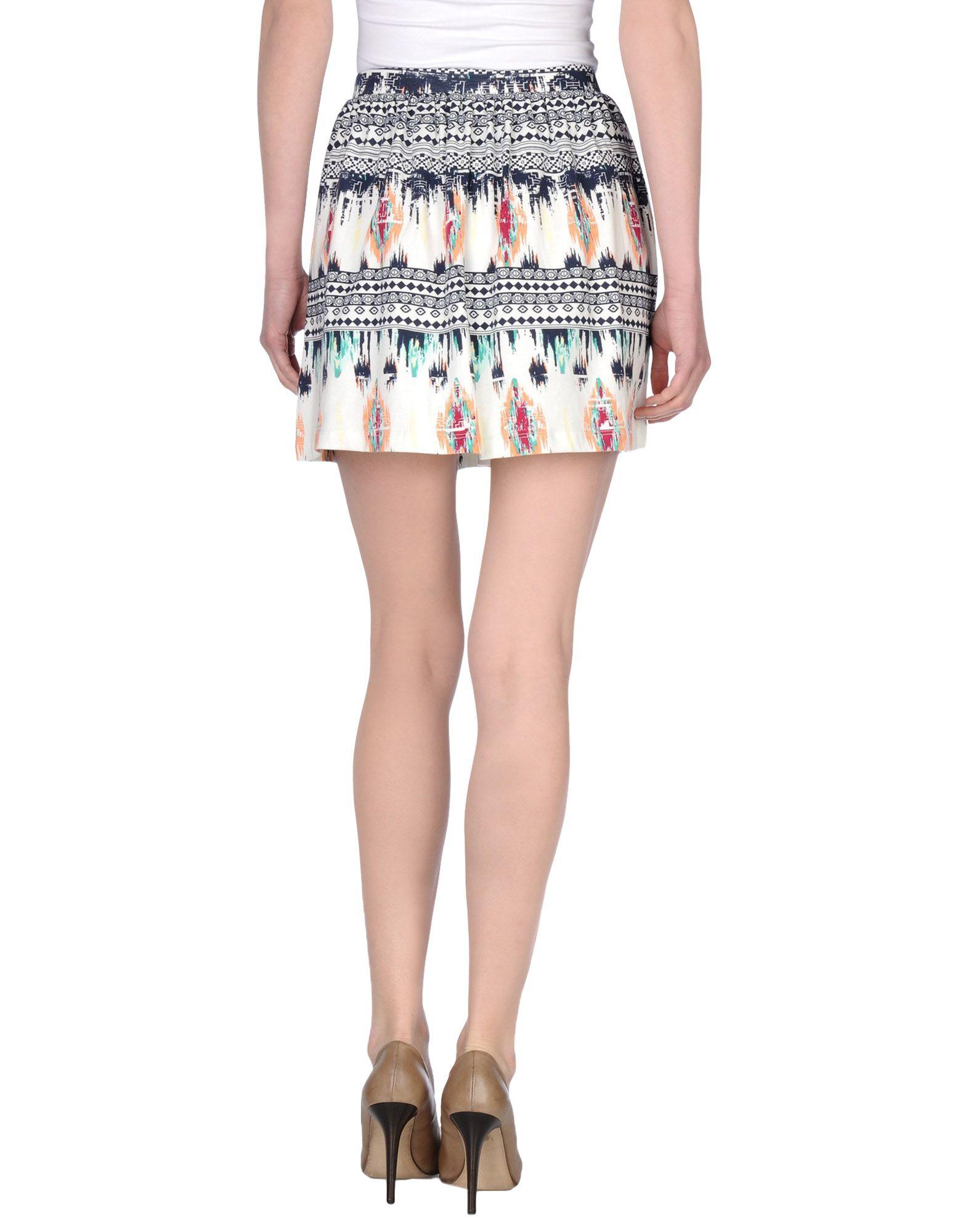 only mini skirt in white lyst