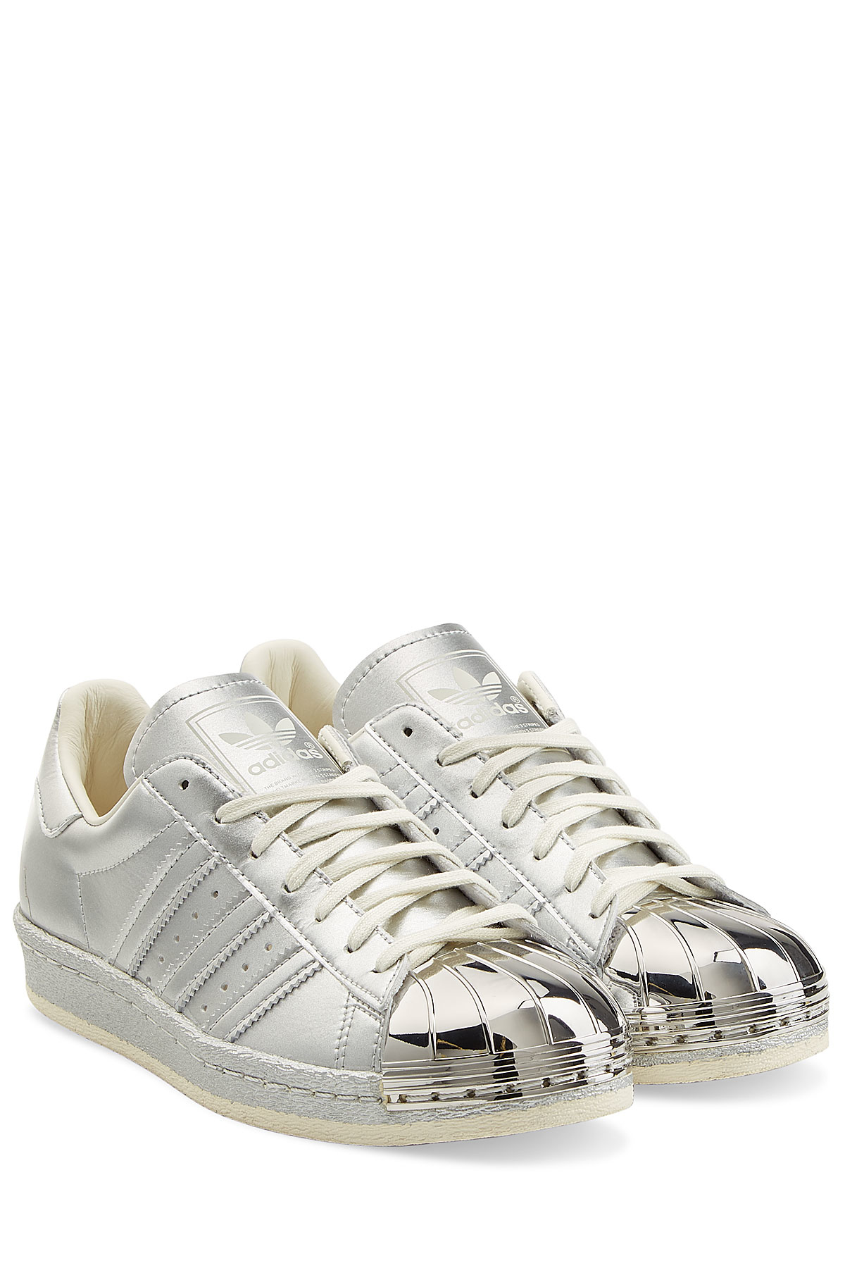 designer fashion low price cheap for discount adidas Originals Leather Superstar Sneakers With Metallic ...